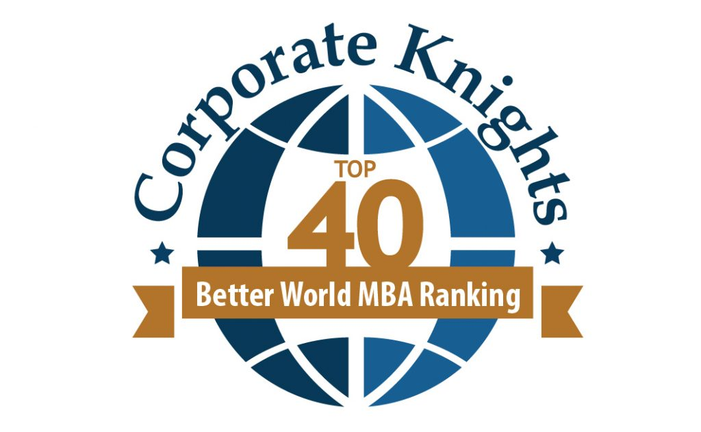 Corporate Knights Better World MBA Ranking Top 40