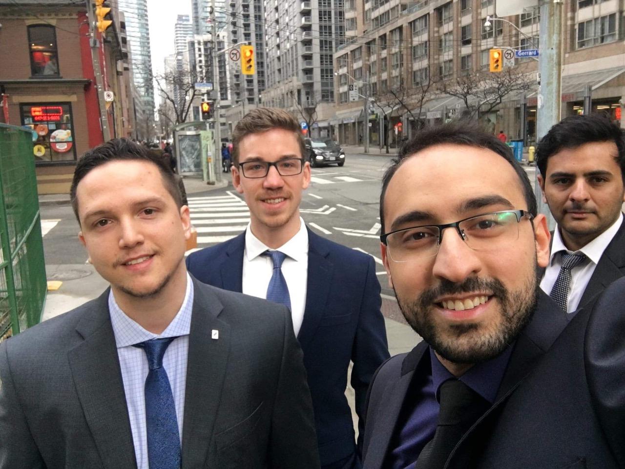 Blake and his team mates at the 2019 MBA Games