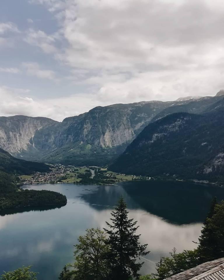 Driving through the Salzkammergut of Austria to Zell Am