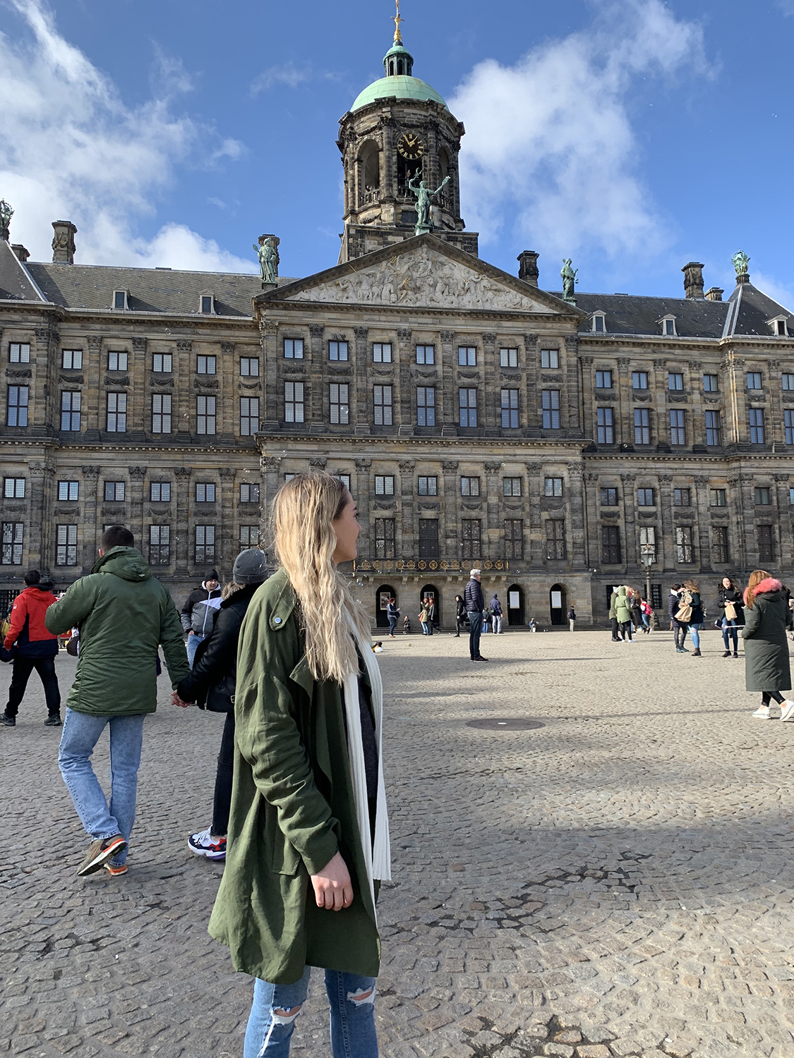 Sarah Jane in front of Dam Square