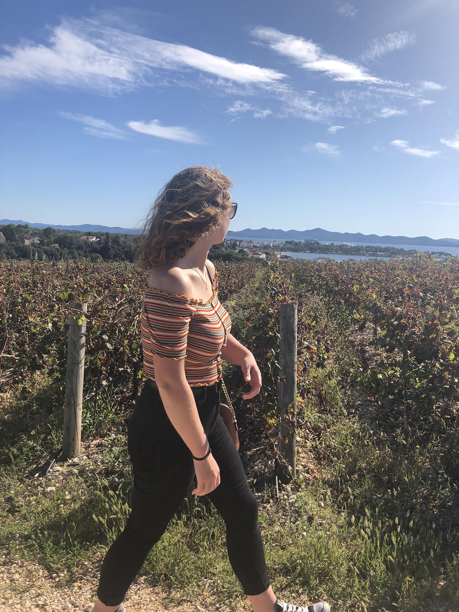 Ceiledh walking in a field