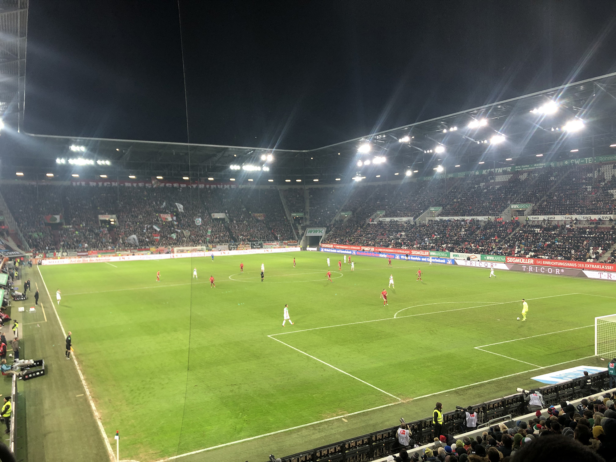 a german football game in a stadium.