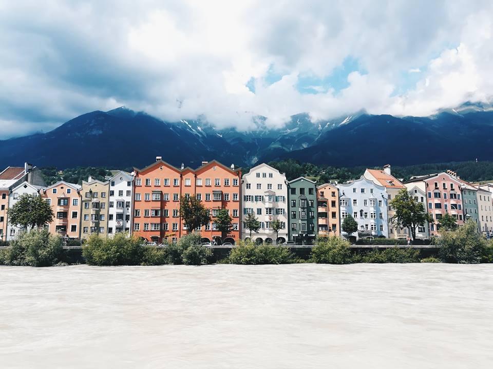 colourful buildings on the beach in Innsbruck