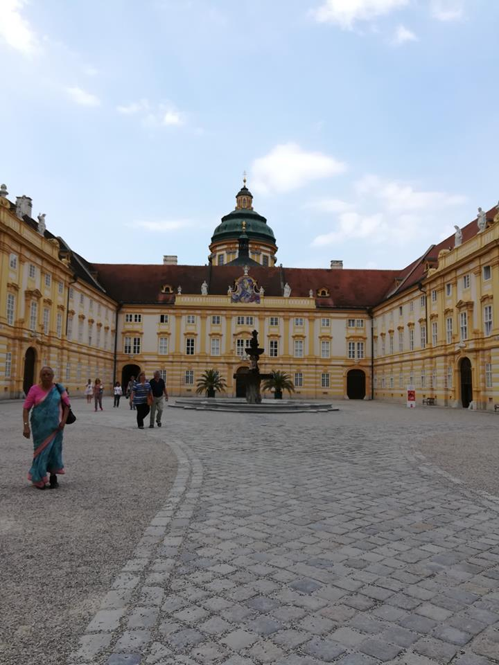 Inside the Monastery square in Melk