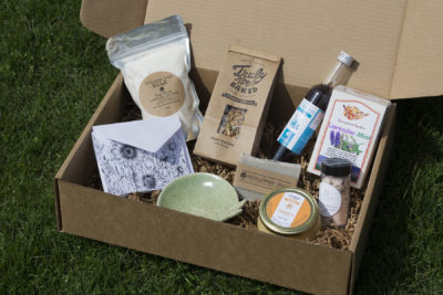 An example of Lovin' Local Headwaters' Mother's Day Box.
