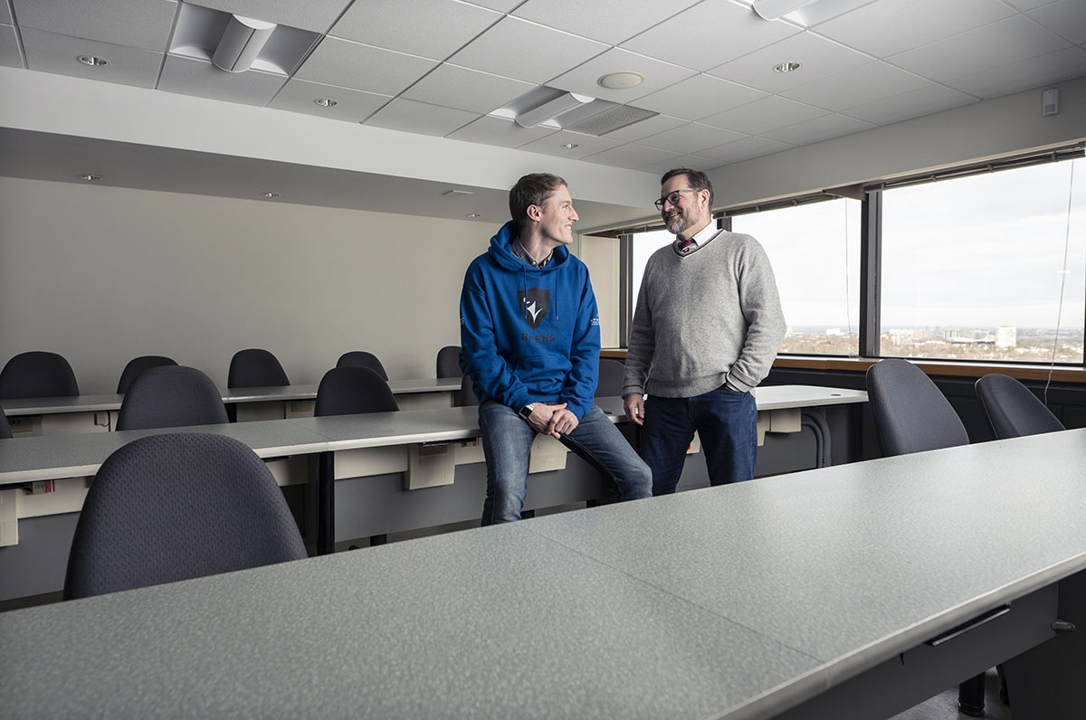 Sprott MBA student Michael Nimmo and Professor Andrew Webb