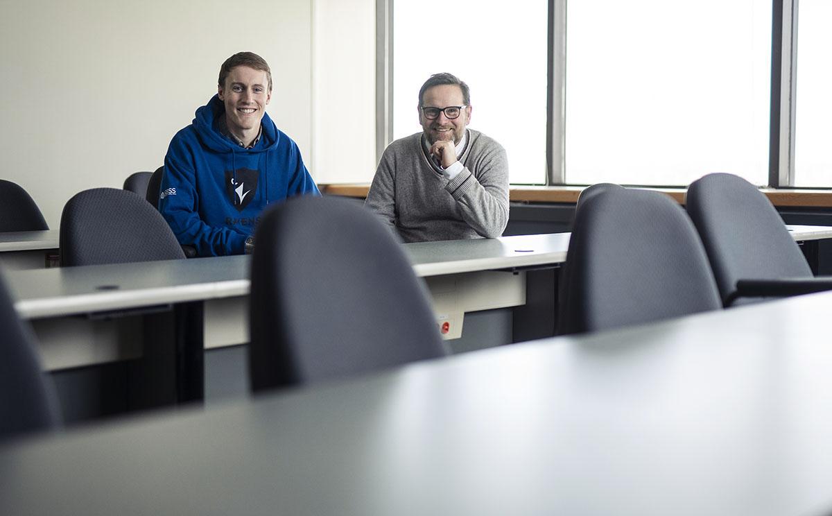 MBA student Michael Nimmo and Professor Andrew Webb