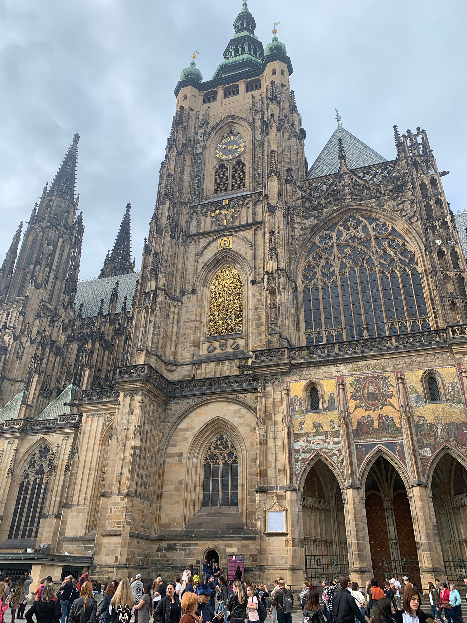 a very large gothic castle in prague