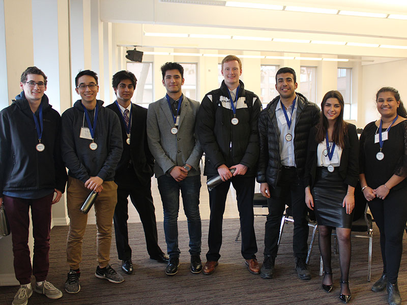 The high school student finalists in the 2018 Sprott Secondary School Business Challenge.