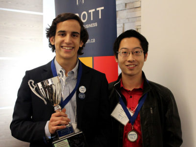 Photo for the news post: Ottawa high school students compete in Sprott Secondary School Business Challenge