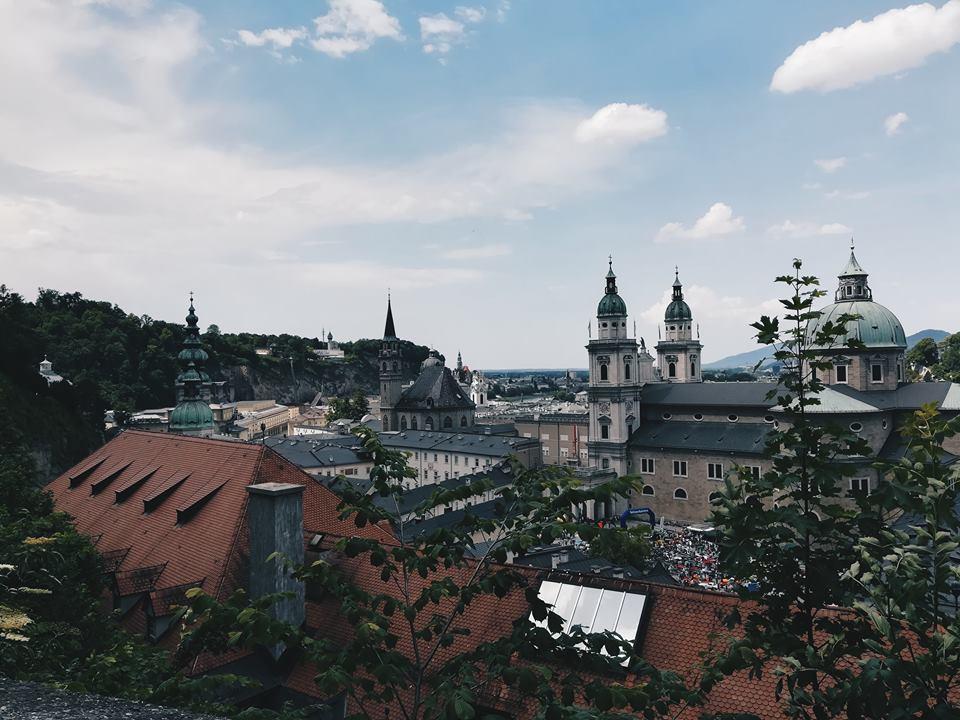 the skyline in Salzburg