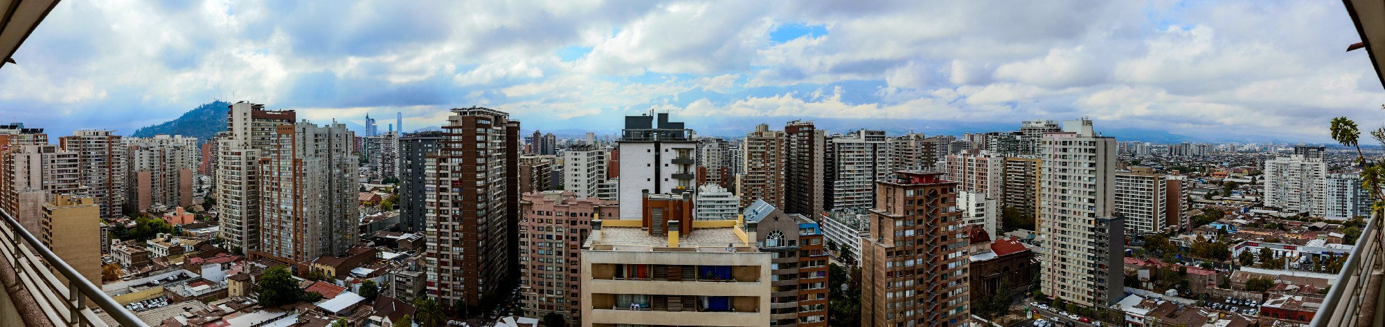 View of the city of Santiago, Chile