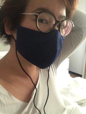 Tangmo modelling face mask prototype