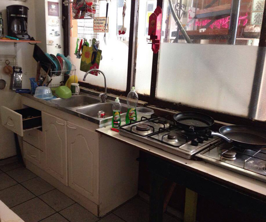 Image of Zach's kitchen in his student housing.