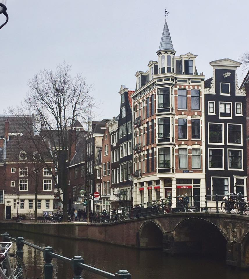 "Amsterdam has a small town feel which I love. It was especially nice to visit during February because streets weren't very crowded, making us feel less ""touristy"". It also made for great photo ops."