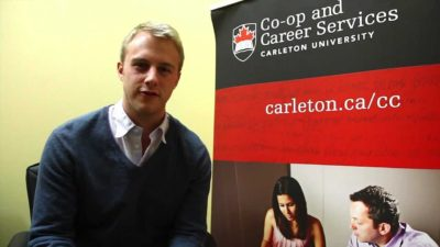 Thumbnail for: Chris Bailey (4th year Management) is Carleton's 2011-12 Co-op Student of the Year!