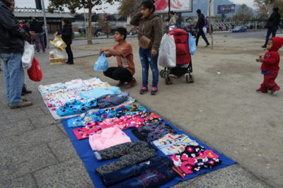 Venders selling clothing on the streets