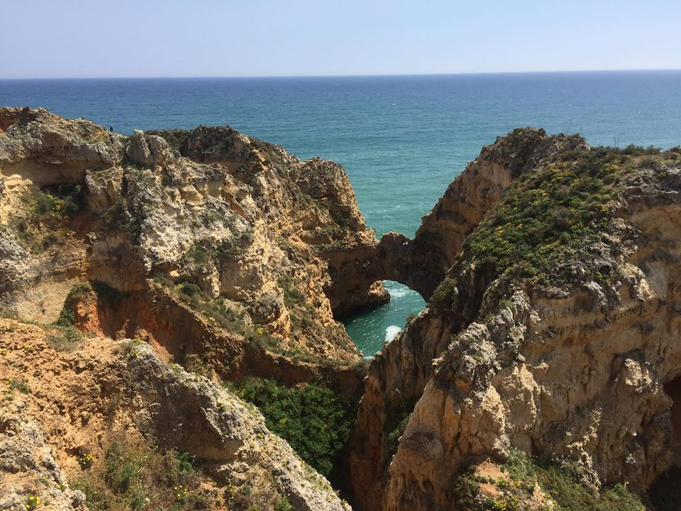 Cliff hike around the point of Lagos, Portugal.