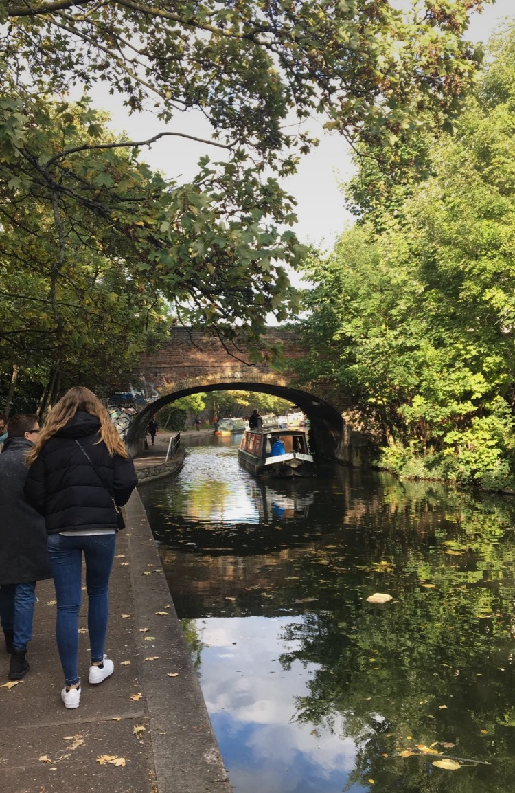 Exploring the canals of Camden in London.