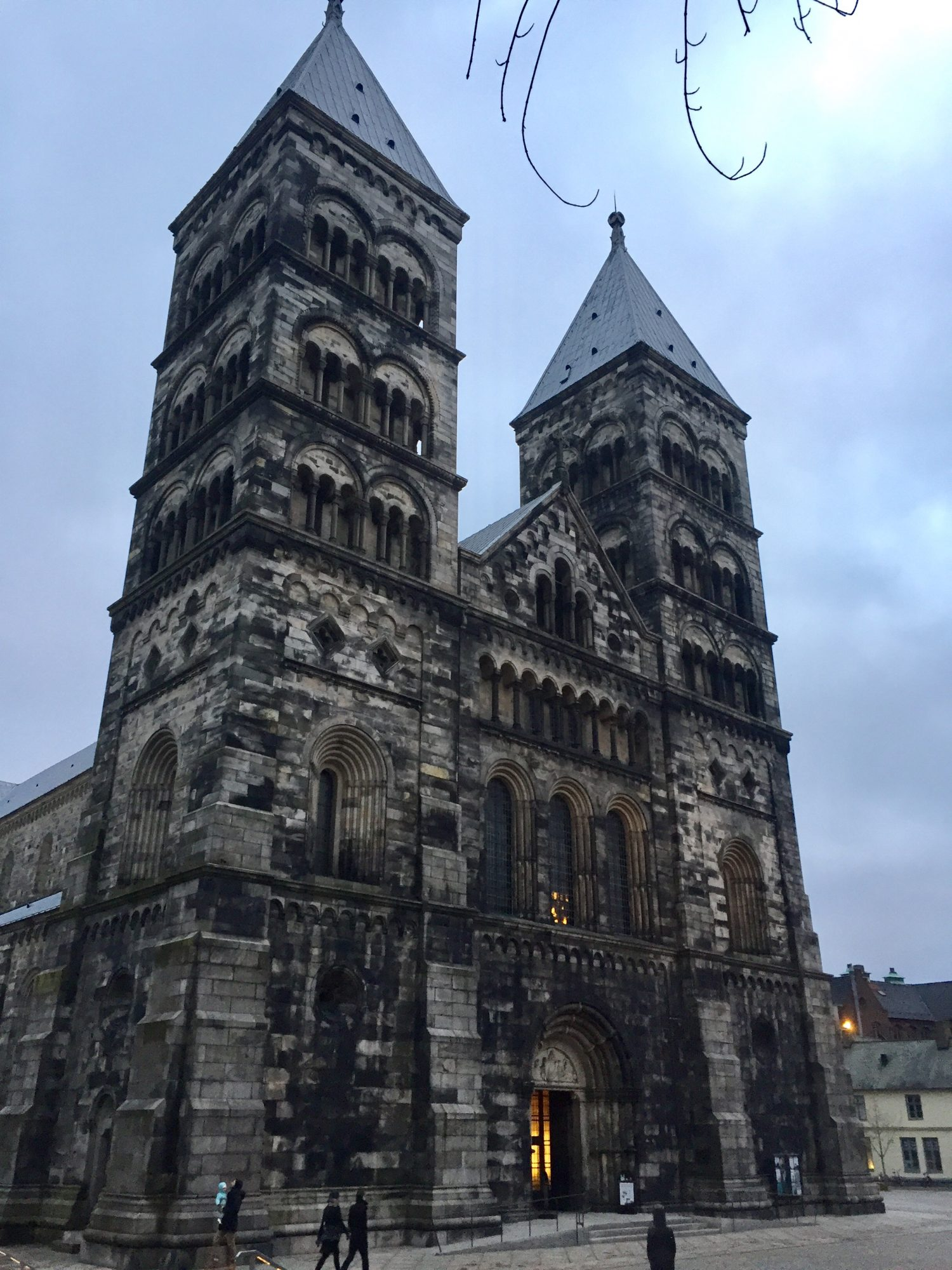 The Cathedral in Lund, Sweden, a 20 minute train ride from Malmo. Lund is a small, but lively University town.