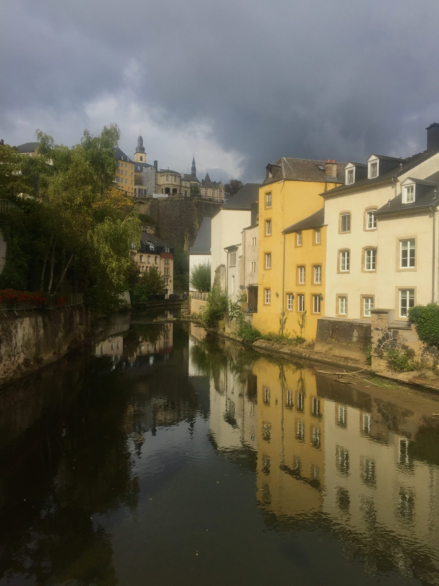 A cloudy day in Luxembourg.