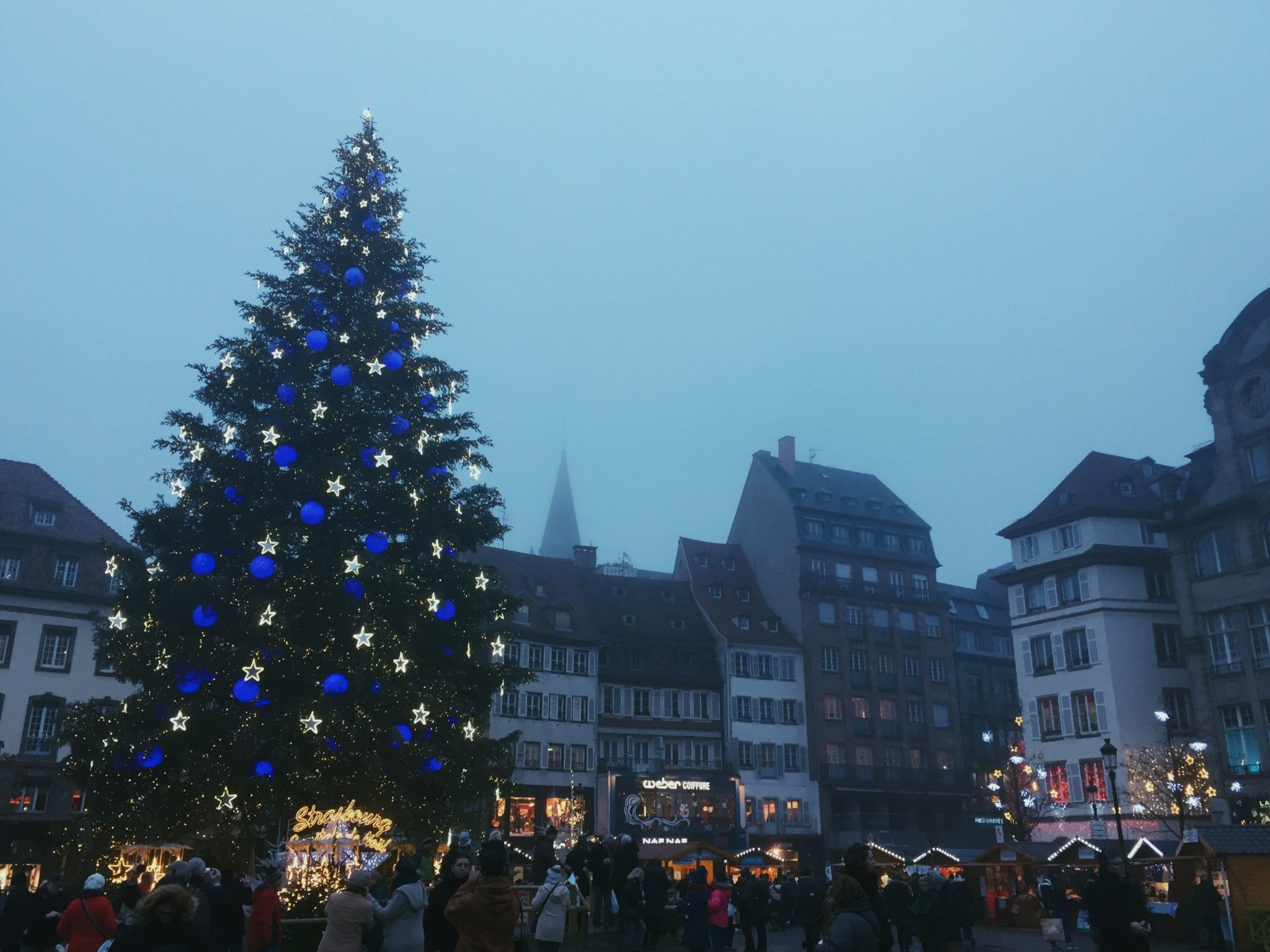 The Strasbourg Christmas market.